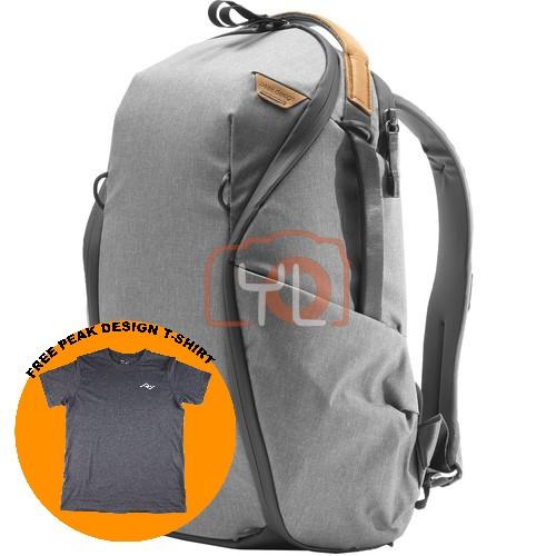 Peak Design Everyday Backpack Zip 15L_Ash V2 (Free Peak Design T-Shirt)
