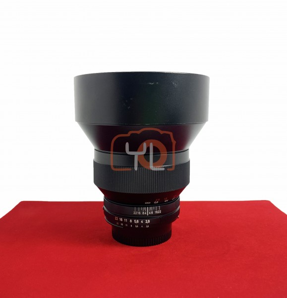 [USED-PJ33] Zeiss 15MM F2.8 Distagon T* ZF.2 (Nikon), 85% Like New Condition (S/N:15923145)