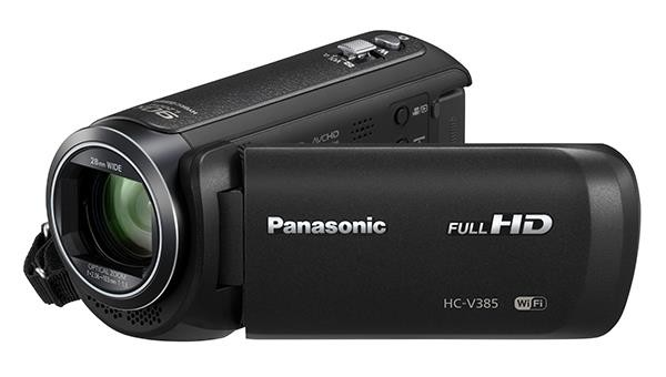 Panasonic HC-V385 High Power Zoom Full HD Camcorder (Free 16GB SD Card & Carrying Case]