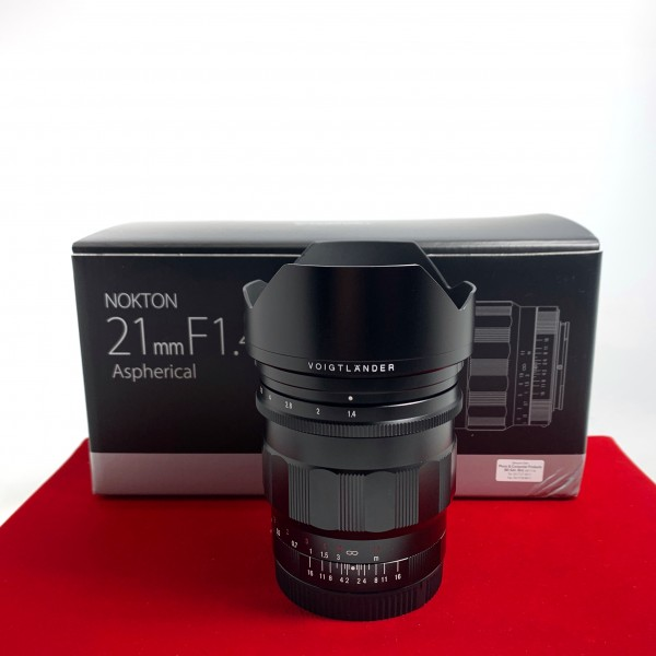 [USED-PJ33] Voigtlander 21MM F1.4 Nokton ASPH (Sony Mount), 95% Like New Condition (S/N:17940616)
