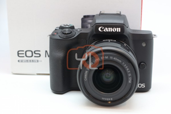 [USED-PUDU] Canon EOS M50 Kit 15-45mm F3.5-6.3 EF-M 95%LIKE NEW CONDITION SN:038040000053