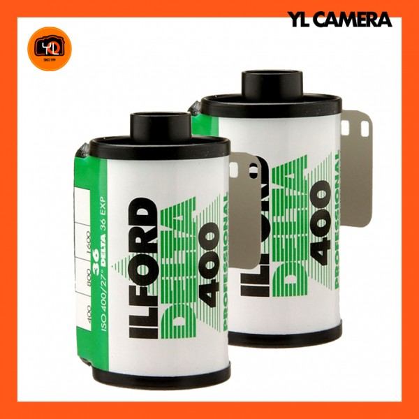 Ilford Delta 400 Professional Black and White Negative Film (35mm Roll Film, 36 Exposures) – Pack of 2