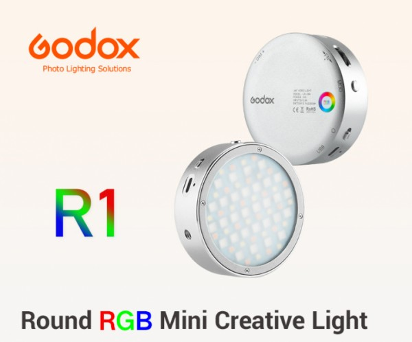 Godox R1 Round RGB Mini Creative Light