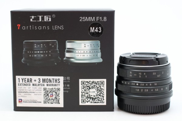[USED-PUDU] 7artisans 25mm F1.8 For Micro Four Thirds (Black) 90%LIKE NEW CONDITION SN:225391