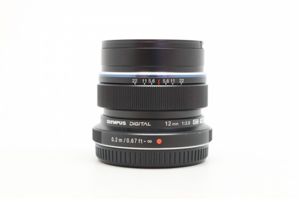 [USED-PUDU] OLYMPUS 12MM F2M.ZUIKO ED MSC (BLACK) 95%LIKE NEW CONDITION SN:ABU213220