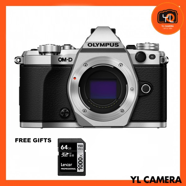 (Promotion) Olympus OM-D E-M5 Mark II - Silver (Free Lexar 64GB SD Card 150MB)