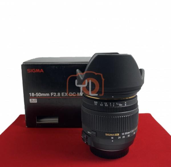 [USED-PJ33] Sigma 18-50MM F2.8 DC EX Macro HSM (Nikon), 85% Like New Condition (S/N:11013640)