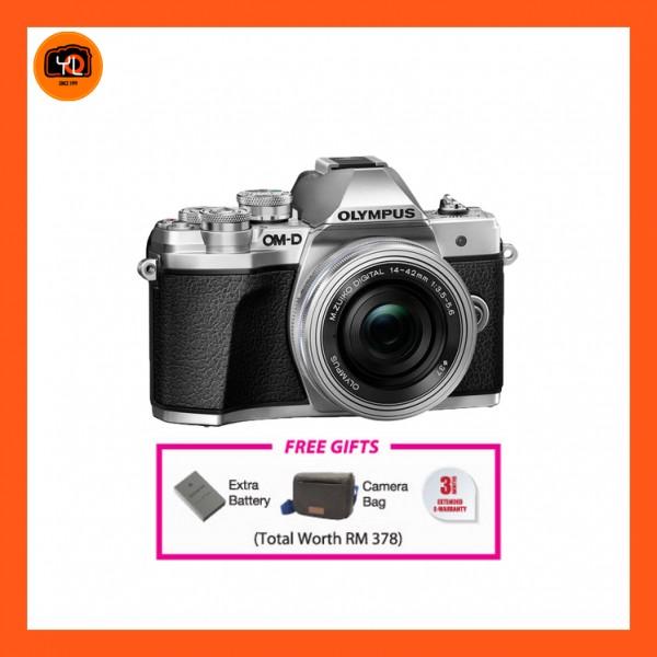 (Promotion) Olympus OM-D E-M10 Mark III + M.Zuiko 14-42mm EZ (Silver) [Free Lexar 32GB 95MB SD Card + Benro ELZ10 Camera Bag]
