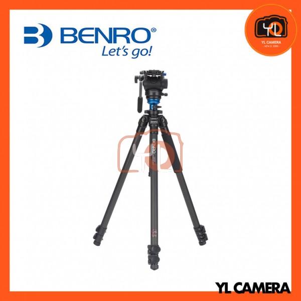 Benro C2573FS4 S4 Video Head and CF Flip Lock Legs Carbon Fiber Video Tripod Kit