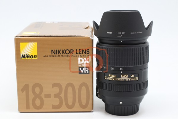 [USED-PUDU] Nikon 18-300mm F3.5-6.3G AFS DX VR 95%LIKE NEW CONDITION SN:2004759