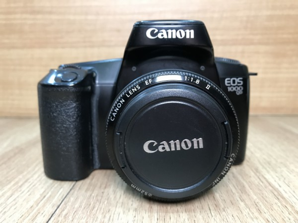 [USED @ YL LOW YAT]-Canon EOS 1000 QD Film Camera + Canon EF 50mm F1.8 II Lens,90% Condition Like New,S/N:1256377
