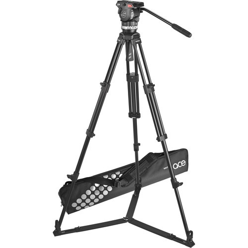 (Pre-Order) Sachtler Ace Fluid Head with 2-Stage Aluminum Tripod & On-Ground Spreader