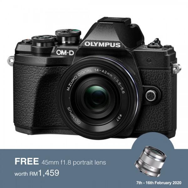 (Flash SALE) Olympus OM-D E-M10 Mark III + M.Zuiko 14-42mm EZ (Black) [Free Lexar 32GB 95MB SD Card + Benro ELZ10 Camera Bag]