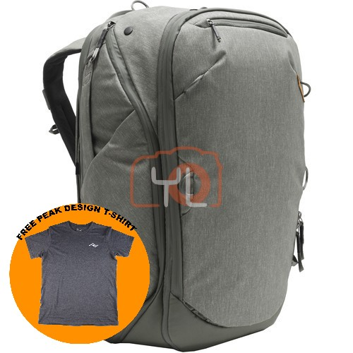 Peak Design Travel Backpack 45L_Sage Green (Free Peak Design T-Shirt)