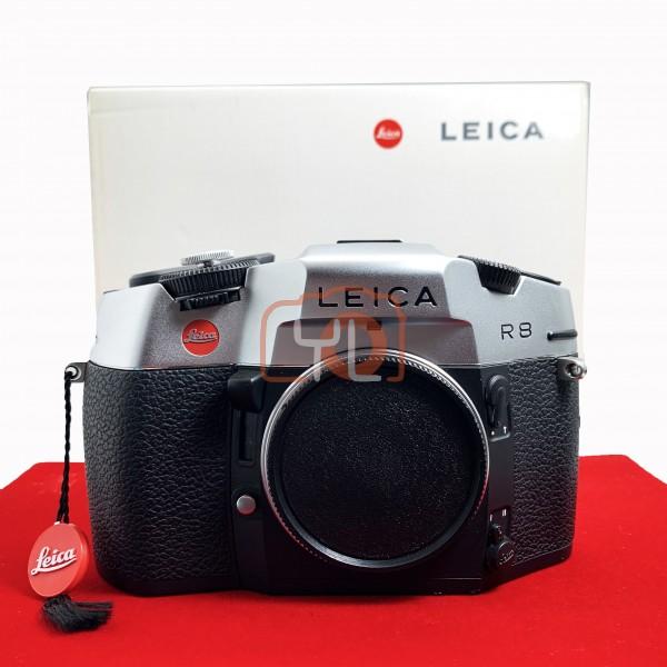 [USED-PJ33] Leica R8 SLR Film Camera (Silver) 10080, 90% Like New Condition (S/N:2434281)