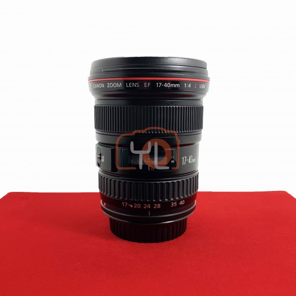[USED-PJ33] Canon 17-40mm F4 L USM EF, 95% Like New Condition (S/N:128663)