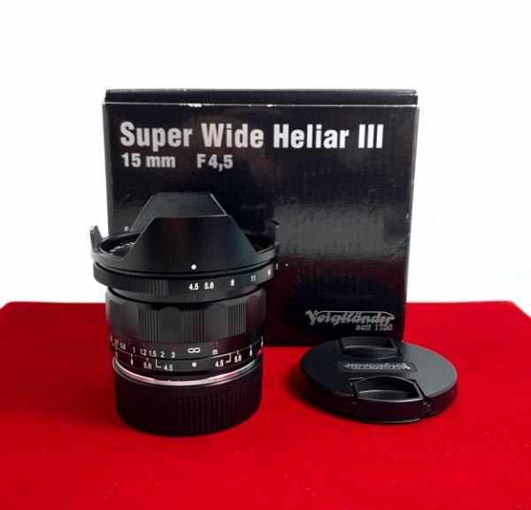 [USED-PJ33] Voigtlander 15MM F4.5 III Super Wide Heliar VM (Leica M Mount), 95% Like New Condition (S/N:8714114)