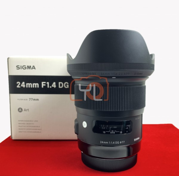 [USED-PJ33] Sigma 24MM F1.4 DG ART (Canon), 95% Like New Condition (S/N:53134851)