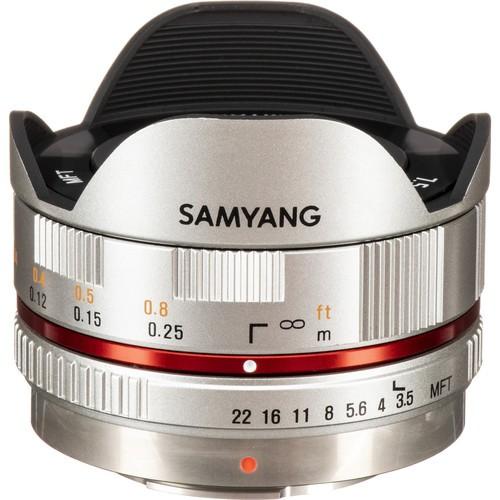 Samyang 7.5mm F3.5 UMC Fisheye MFT Lens - Silver