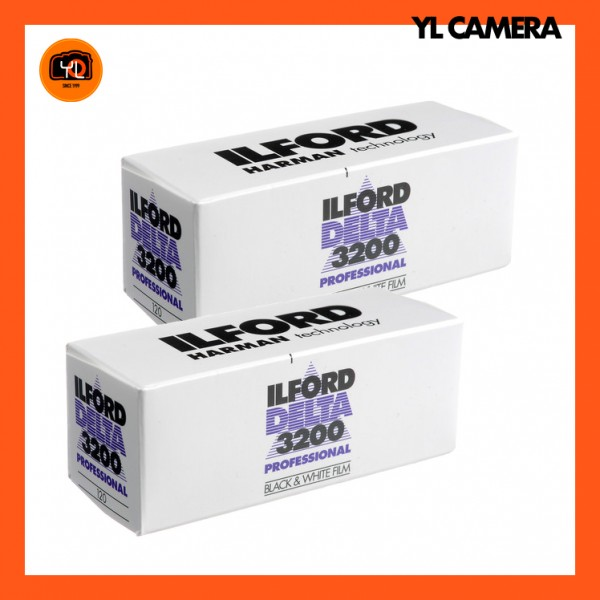 Ilford Delta 3200 Professional Black and White Negative Film (120 Roll Film) – Pack of 2