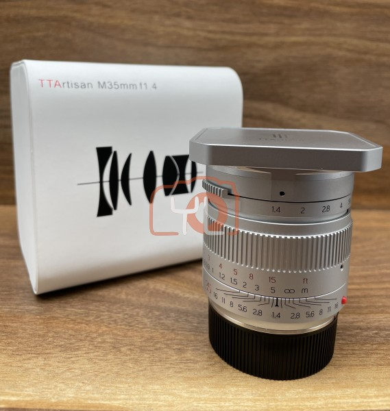 [USED @ YL LOW YAT]-TT Artisan M35mm F1.4 - Silver (Leica M-Mount),90% Condition Like New,S/N:6351727