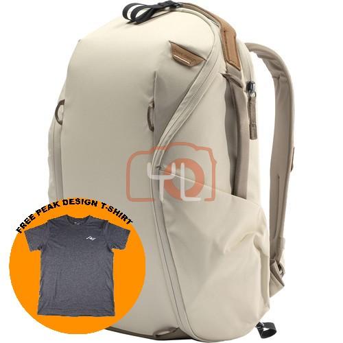 Peak Design Everyday Backpack Zip 15L_Bone V2 (Free Peak Design T-Shirt)