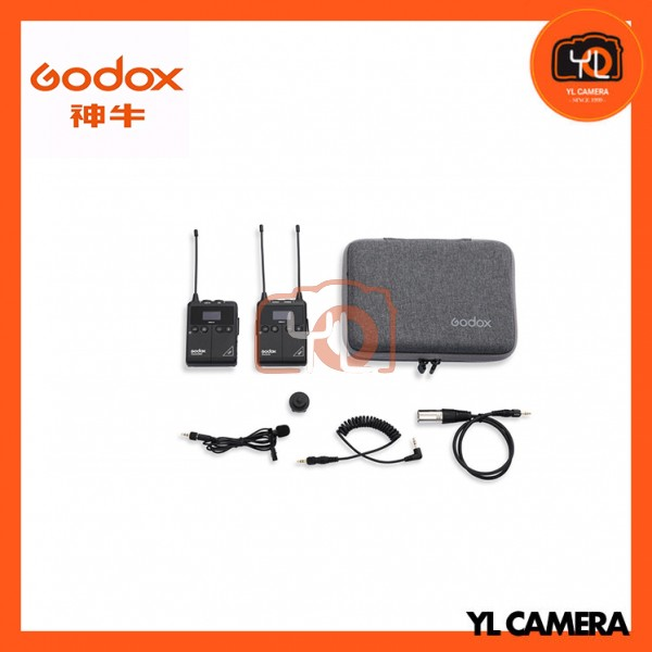 (New Product) Godox WMic S1 Kit1 UHF Portable Real-time Monitoring Wireless Lavalier Microphone Kit