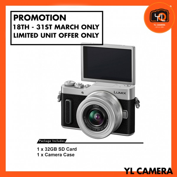 (Promotion) Panasonic Lumix DC-GF10 W/12-32mm - Silver (Free 32GB SD Card & Carrying Case)