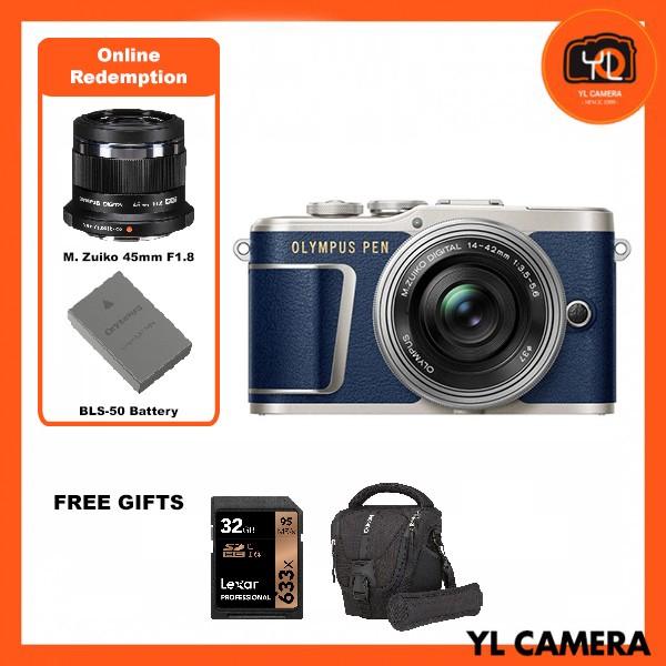 (Promotion) Olympus E-PL9 +  M.Zuiko 14-42mm EZ (BLUE) [Free Lexar 32GB 95MB SD Card + Benro ELZ10 Camera Bag] [Online Redemption 45mm F1.8 + Extra Battery]