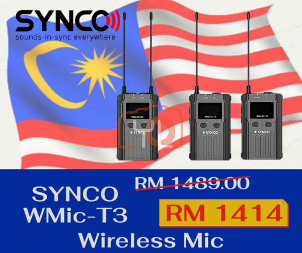 Synco WMic-T3 Wireless Lavalier Microphone System (UHF: 512 to 589 MHz)