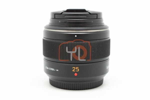 [USED-PUDU]-Panasonic Leica 25mm F1.4 DG Summilux ASPH. 90%LIKE NEW CONDITION SN:XT1JC003028