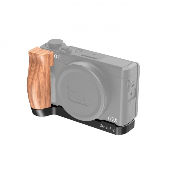 SmallRig LCC2445 L-Shaped Wooden Grip for Canon G7X Mark III