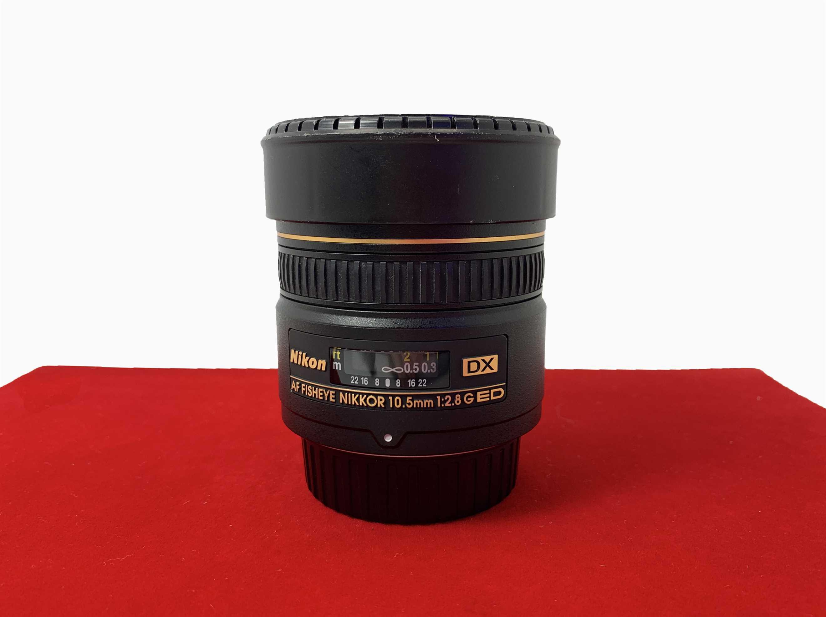 [USED-PJ33] Nikon 10.5MM F2.8G Fisheye AF DX Lens,90% Like New Condition (S/N:389352)