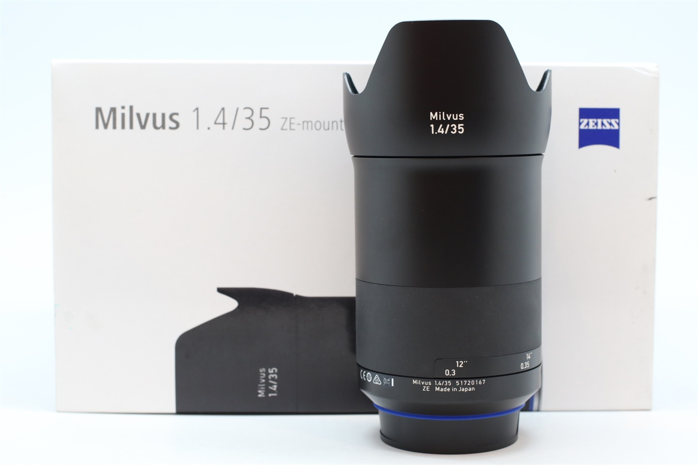 [USED-PUDU] ZEISS 35MM F1.4 Milvus ZE (CANON Mount) LENS 95%LIKE NEW CONDITION  SN;51720167