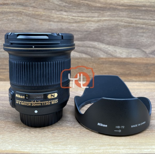 [USED @ YL LOW YAT]-Nikon AF-S NIKKOR 20mm F1.8G ED Lens,95% Condition Like New,S/N:253234