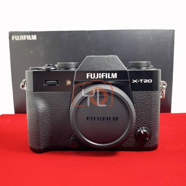 [USED-PJ33] Fujifilm X-T20 Body (Black) Shutter count: 2950, 95% Like New Condition (S/N:8DQ16047)