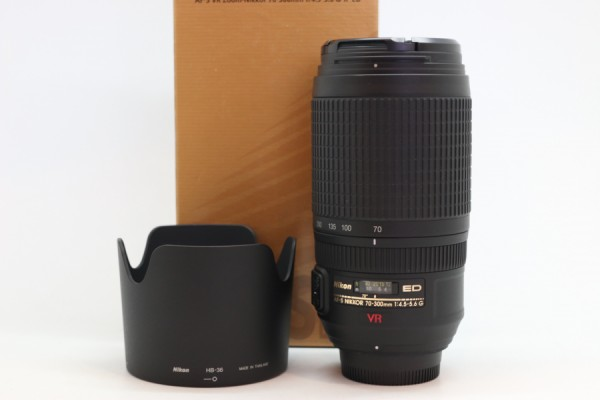 [USED-PUDU] NIKON 70-300MM F4.5-5.6 AF-S VR ED 98%LIKE NEW CONDITION SN:2397904