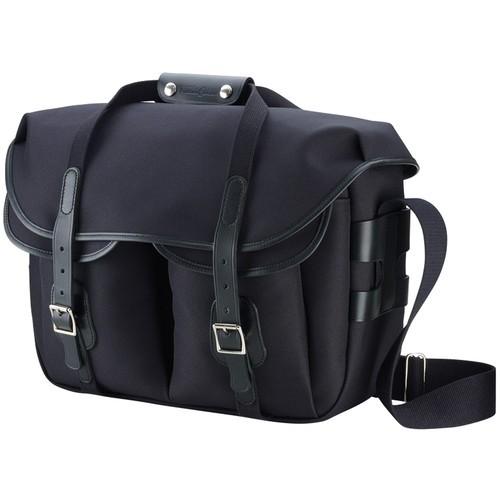 (SPECIAL DEAL) Billingham Hadley Large Pro Shoulder Bag (Black Canvas & Black Leather)