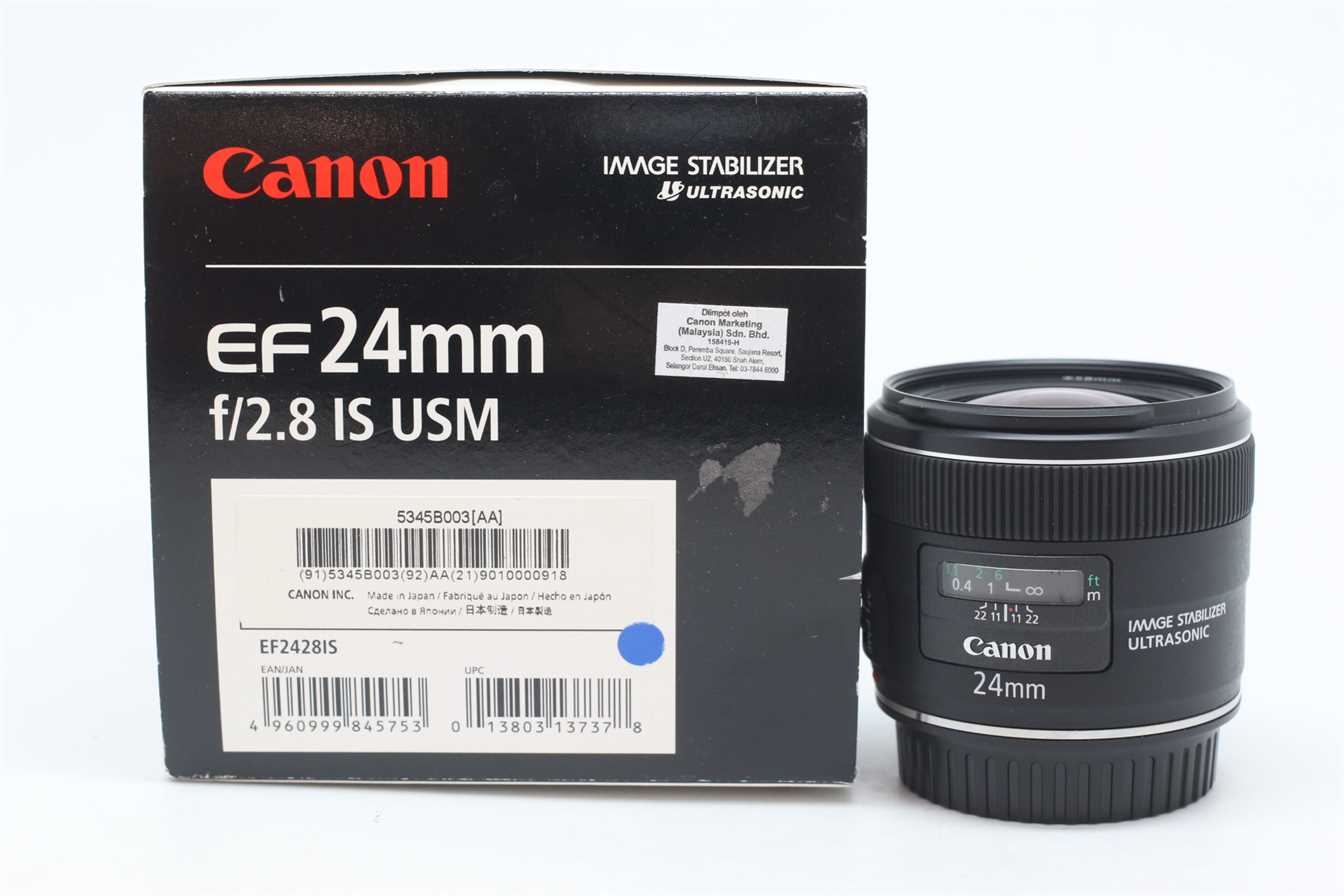 [USED-PUDU] CANON 24MM F2.8 EF IS USM LENS 95%LIKE NEW CONDITION  SN:9010000918
