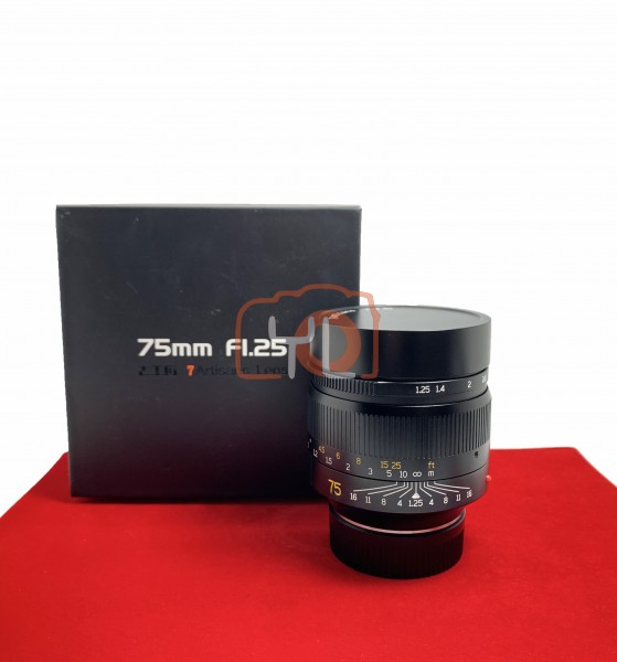 [USED-PJ33] 7artisans 75mm F1.25 (For Leica M), 95% Like New Condition (S/N:7582372)