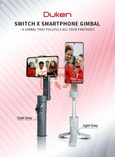 SIRUI DK-SD DUKEN Switch X 3-in-1 Smartphone Gimbal, Tripod, Selfie Stick - Light Grey