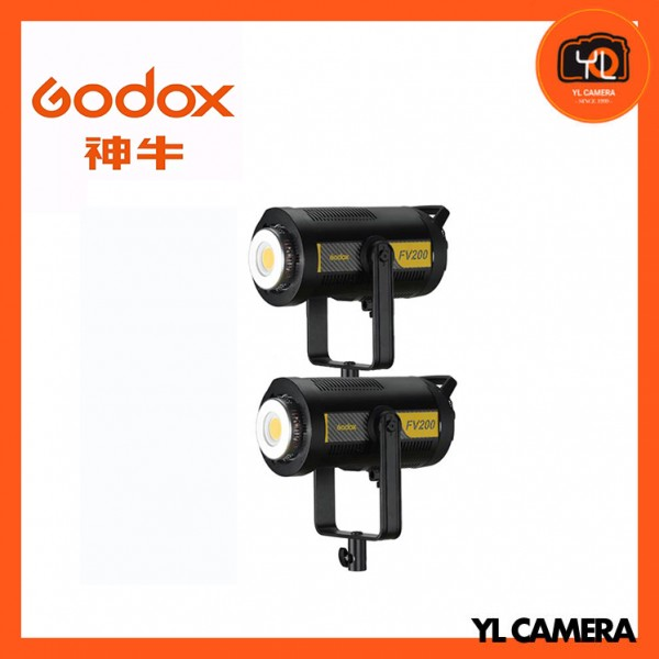 Godox FV200 High Speed Sync Flash LED Light 2 Light Kit