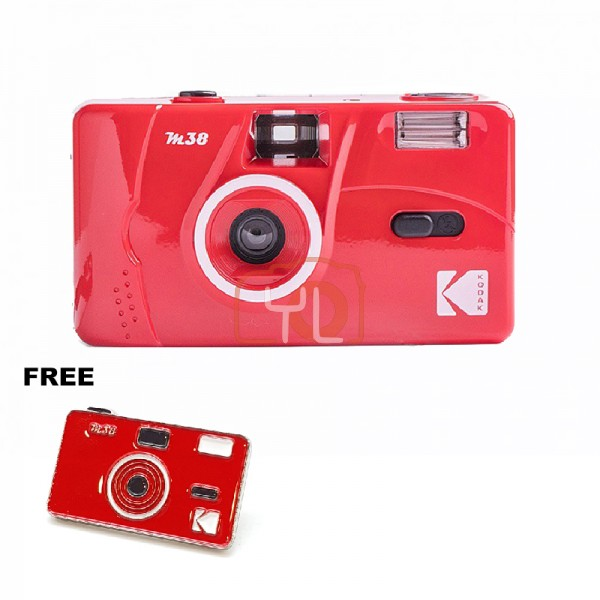 Kodak M38 Film Camera - RED W/ Pin Tag