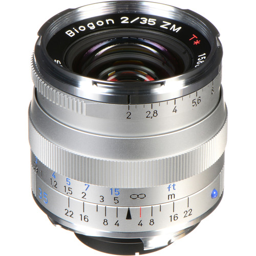 ZEISS Biogon T* 35mm F2 ZM Lens (Silver)