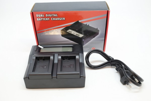 DBK Dual LCD Battery Charger LP-E6 (Canon Battery)