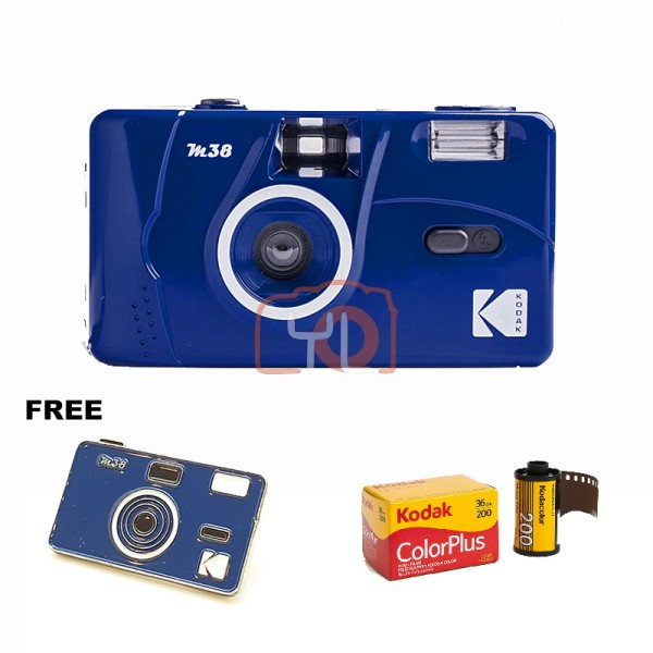 Kodak M38 Film Camera - Blue W/ Pin Tag (Free Kodak ColorPlus)