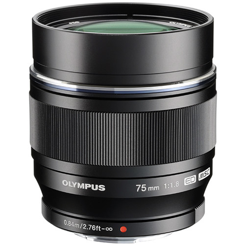 Olympus 75mm F1.8 M.Zuiko (Black)