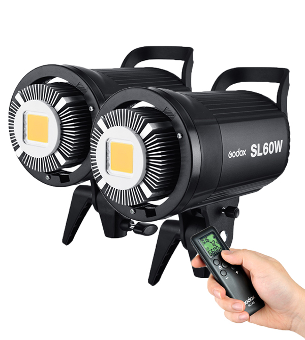 Godox SL-60W LED Video Light ( 2 Light Kit Set )