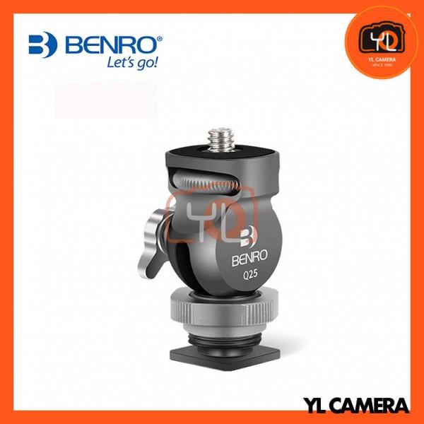 Benro Q25 Cold Shoe Two-Way Quick Lock Hot Shoe Tilt Head