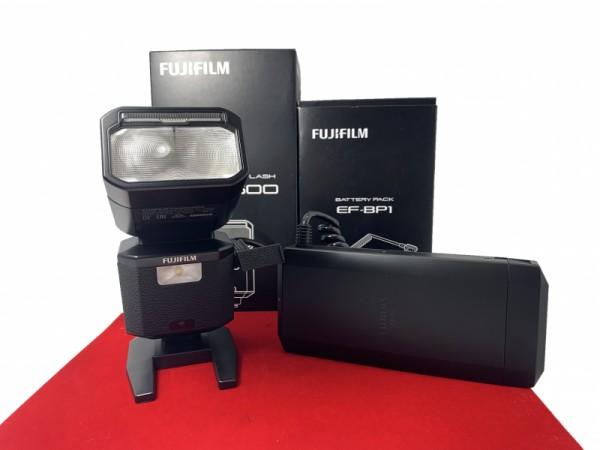 [USED-PJ33] Fujifilm EF-X500 Flash + EF-BP-1 Battery Pack, 99% Like New Condition (S/N:113136)